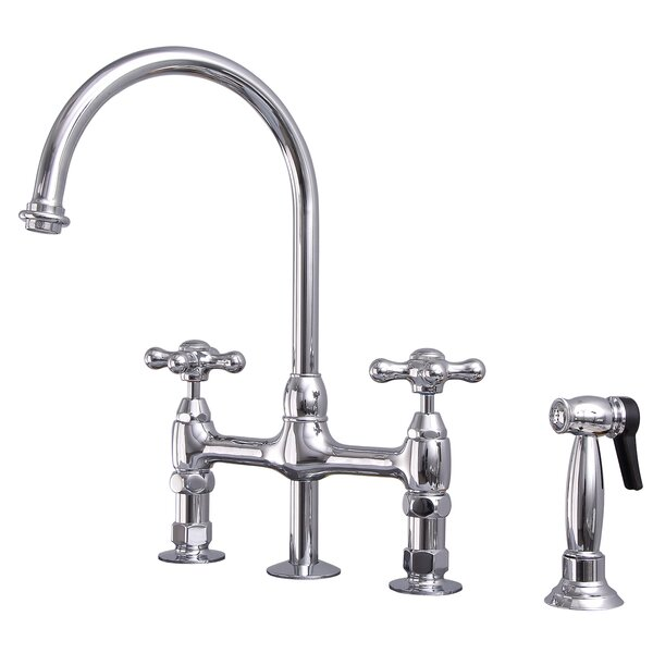 Harding Kitchen Bridge Faucet with Side Spray by Barclay