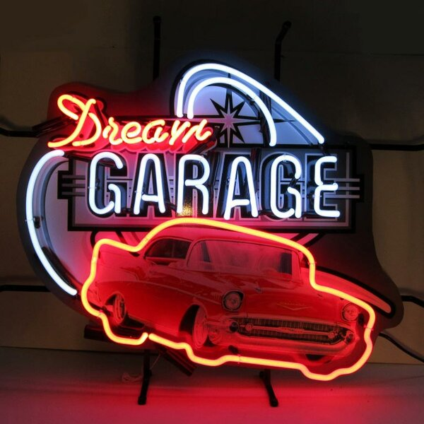 Dream Garage 57 Chevy Neon Sign by Neonetics