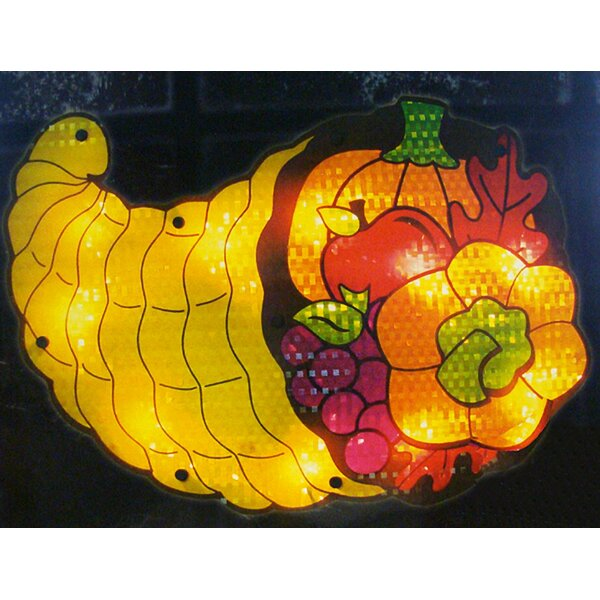 Lighted Thanksgiving Cornucopia Window Silhouette Decoration by Northlight Seasonal