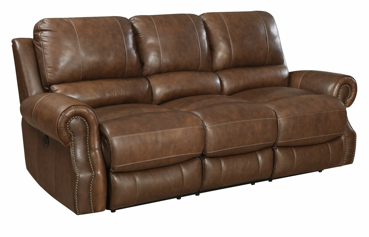 Beautiful Crete Leather Reclining Sofa Part 12