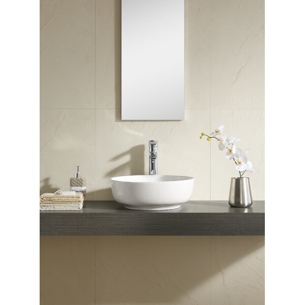 Ceramic Circular Vessel Bathroom Sink by Fine Fixtures
