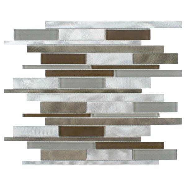 Commix Random Sized Glass/Aluminum Mosaic Tile in Lorraine by EliteTile