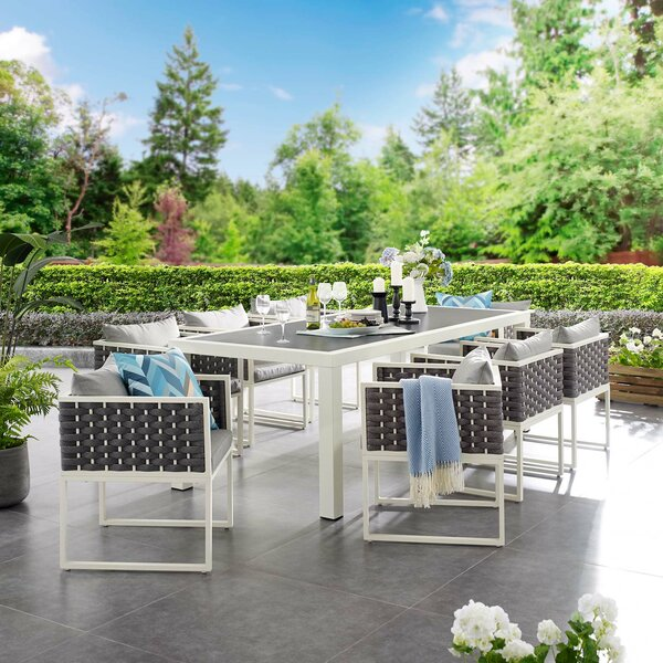 Rossville Outdoor 9 Piece Dining Set by Ivy Bronx