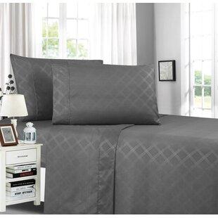 Brampt Stain Resistant Embossed Plaid Design Sheet Set ByHouse of Hampton