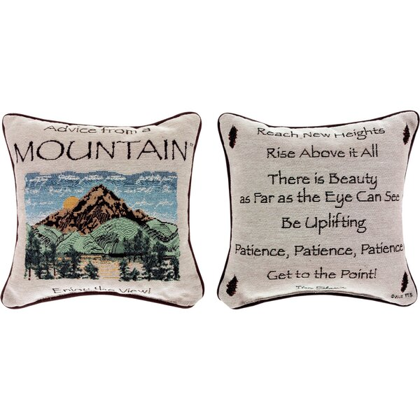 Advice from a Mountain Throw Pillow by Manual Woodworkers & Weavers