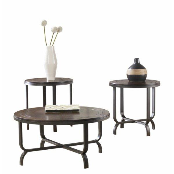 Crandon 3 Piece Coffee Table Set