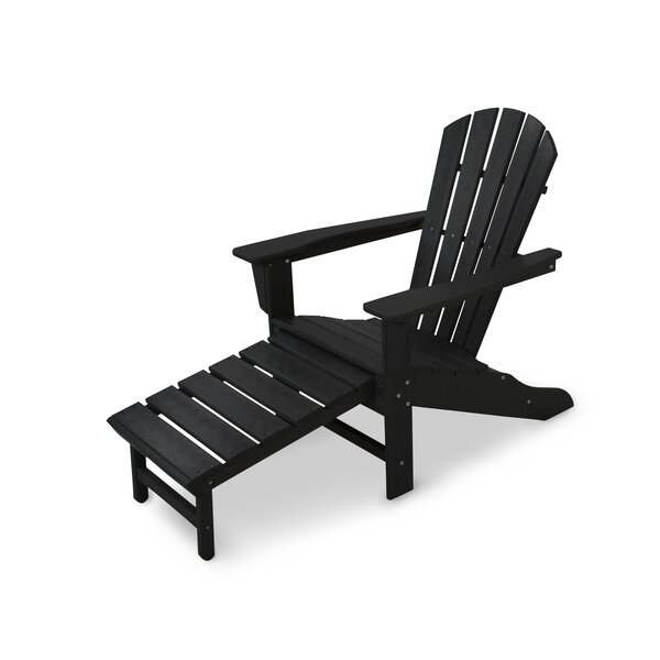 Palm Coast Plastic Adirondack Chair with Ottoman by POLYWOOD POLYWOOD®