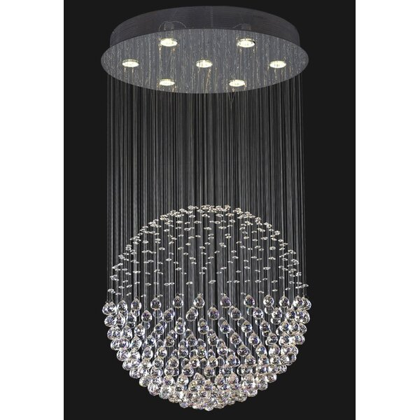 Griffen 7 - Light Unique / Statement Globe Chandelier by House of Hampton House of Hampton