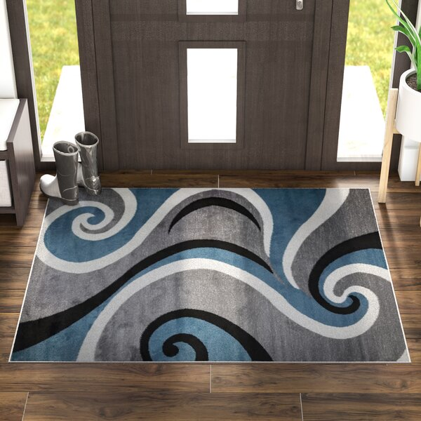Mckenzie Blue/Gray Area Rug by Zipcode Design