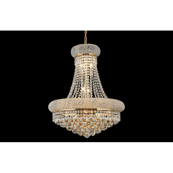 Mckie 10 - Light Unique / Statement Empire Chandelier With Crystal By House Of Hampton