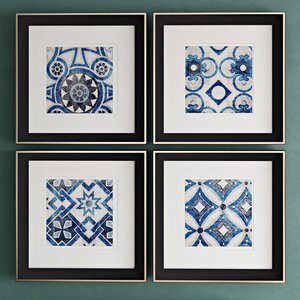 'Persian Jewels' 4 Piece Framed Graphic Art Set by World Menagerie