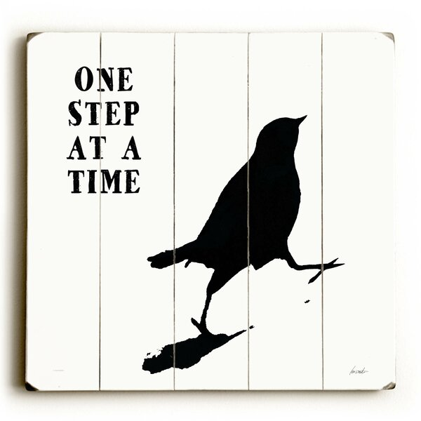 One Step At a Time Graphic Art Print Multi-Piece Image on Wood by Artehouse LLC