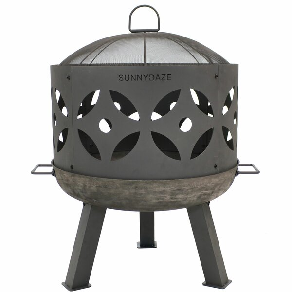 Budde Outdoor Cast Iron Wood Burning Fire Pit by Union Rustic