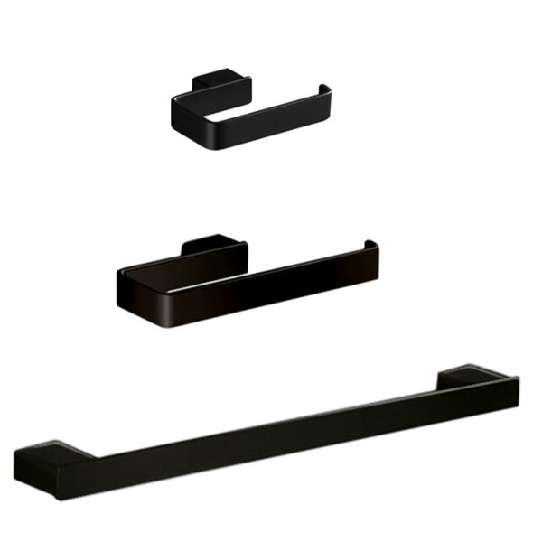 Lounge 3 Piece Bathroom Hardware Set by Gedy by Nameeks