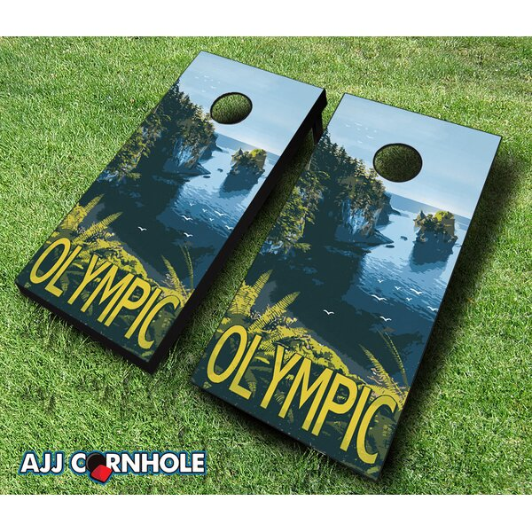 Olympic National Park Cornhole Set by AJJ Cornhole