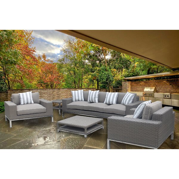 Leonore 5 Piece Sofa Set with Cushions by Orren Ellis