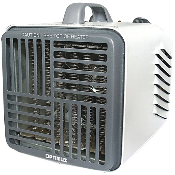 Mini Utility 1500 Watt Electric Fan Compact Heater with Thermostat by Optimus