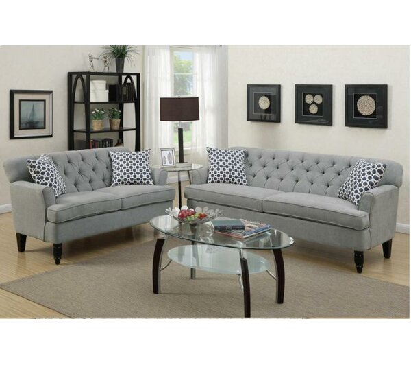 A&J Homes Studio Angel 2 Piece Living Room Set & Reviews