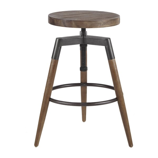 Deskins Adjustable Height Bar Stool by Williston Forge