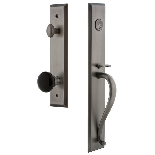 5th Avenue Single Cylinder Handleset with S Grip and Coventry Knob by Grandeur