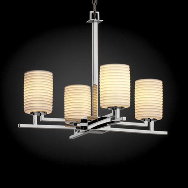 Hannah 4-Light Shaded Chandelier by Darby Home Co