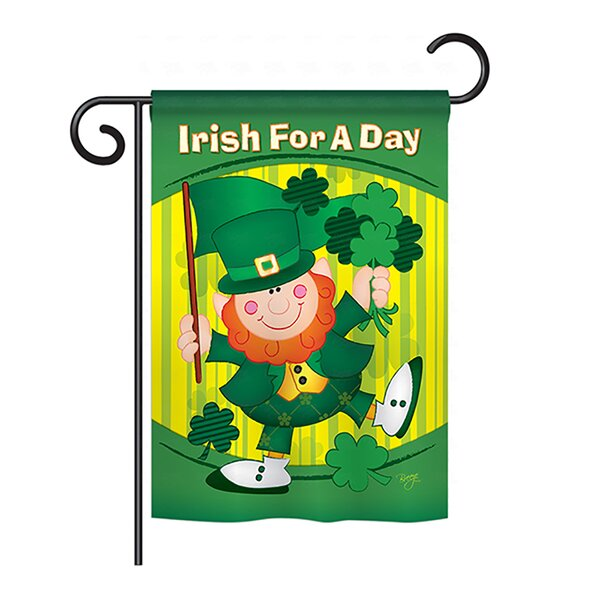 Irish For A Day 2-Sided Vertical Flag by Breeze Decor