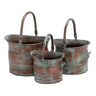 3 Piece Metal Pot Planter Set