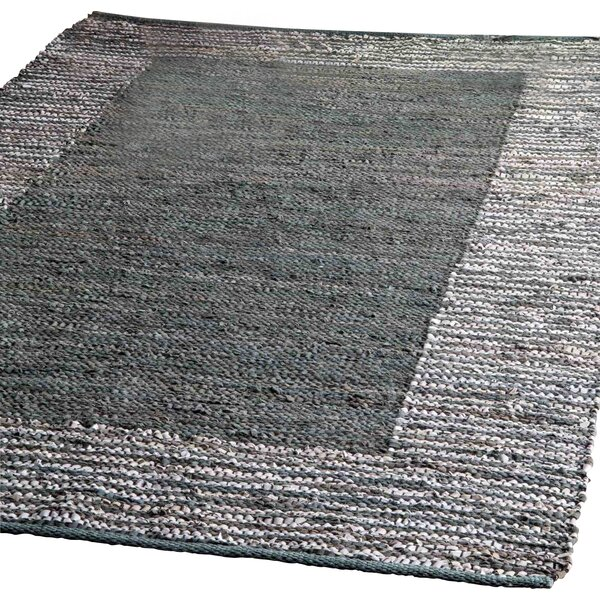 Haworth Hand-Woven Gray Area Rug by Wrought Studio