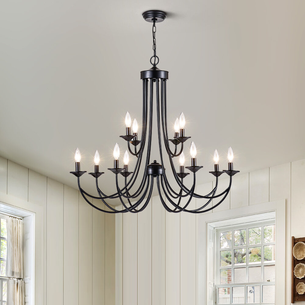 Three Posts Estelle 12 Light Candle Style Classic Chandelier Reviews Wayfair