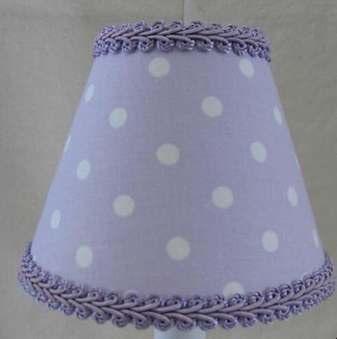 Perfect 7 H Fabric Empire Lamp shade ( Screw on ) in White/Purple