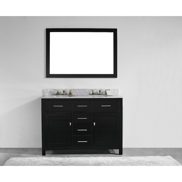 Sverre 48 Double Bathroom Vanity Set with Mirror by Willa Arlo Interiors