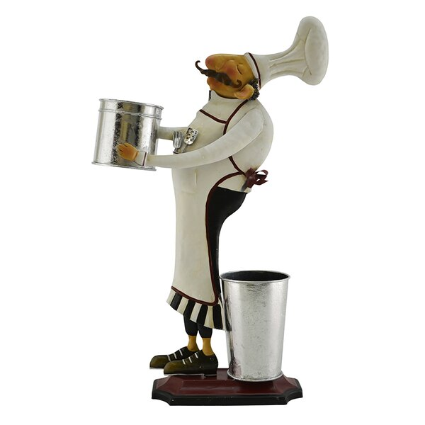 Barney Chef with Two Buckets Kitchen Restaurant Decoration Stand Figurine by Fleur De Lis Living