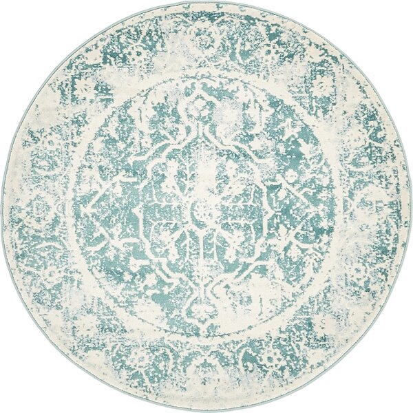 Sherrill Blue Floral Area Rug by Bungalow Rose