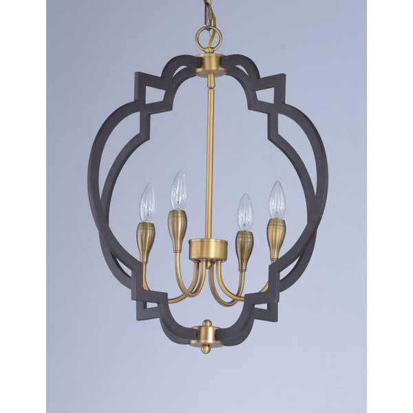 Astin 4-Light Candle Style Geometric Chandelier By Everly Quinn