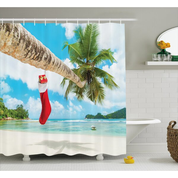 Christmas Beach Xmas Stockings Shower Curtain by The Holiday Aisle