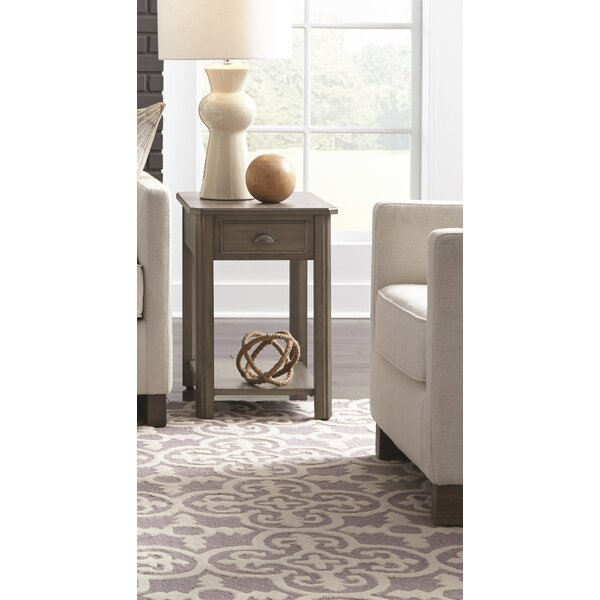 Fernville Rectangular End Table with Storage by Darby Home Co