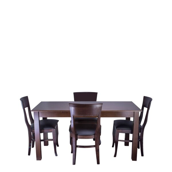 Tymon 5 Piece Solid Wood Dining Set by Darby Home Co