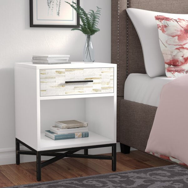 Pawlowski 1 Drawer Nightstand by Brayden Studio