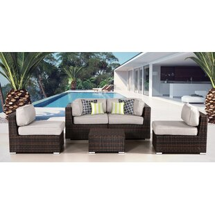 Archie 5 Piece Sectional Set with Cushions By Bayou Breeze