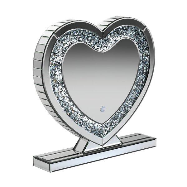 Earleton Heart Shape Glam Beveled Vanity Mirror