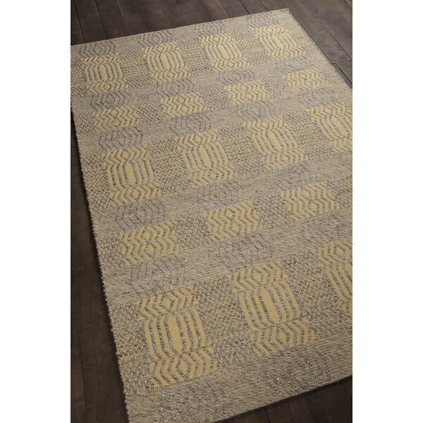 Patwin Patterned Contemporary Yellow/Natural Area Rug by Bungalow Rose
