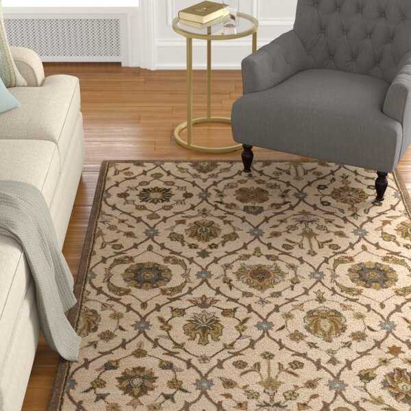 Phinney Hand-Tufted Cream Area Rug by Astoria Grand