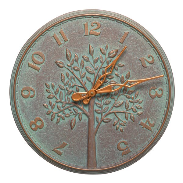 16 Tree of Life Indoor/Outdoor Wall Clock by Whitehall Products