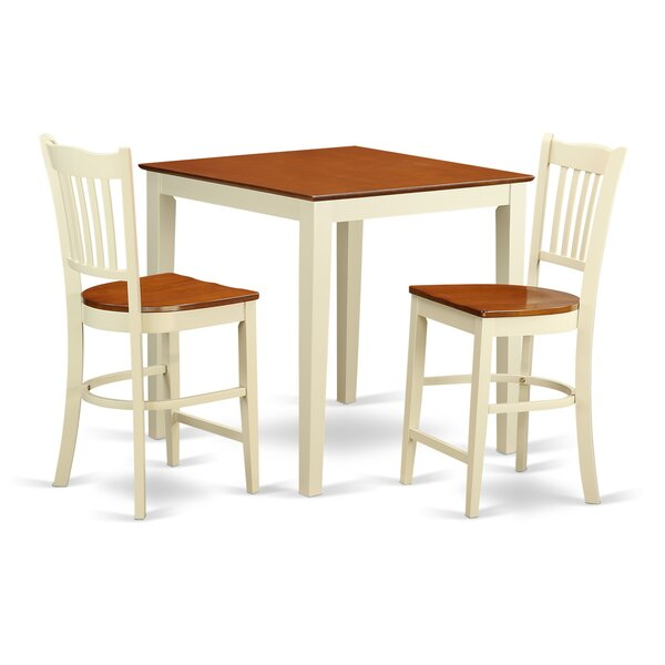 Neven 3 Piece Counter Height Pub Table Set by Charlton Home Charlton Home