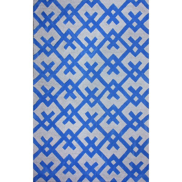 Santa Fe Hand-Woven Blue Area Rug by nuLOOM