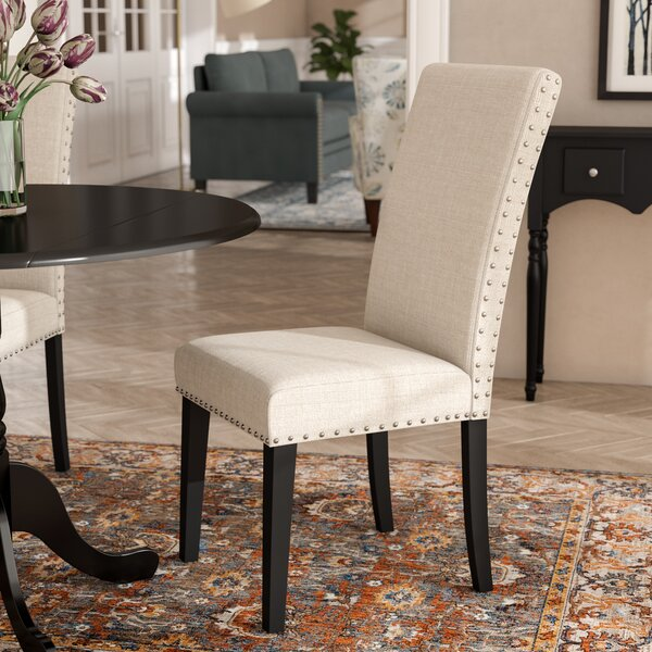 #2 Huebert Upholstered Dining Chair By Charlton Home Cheap