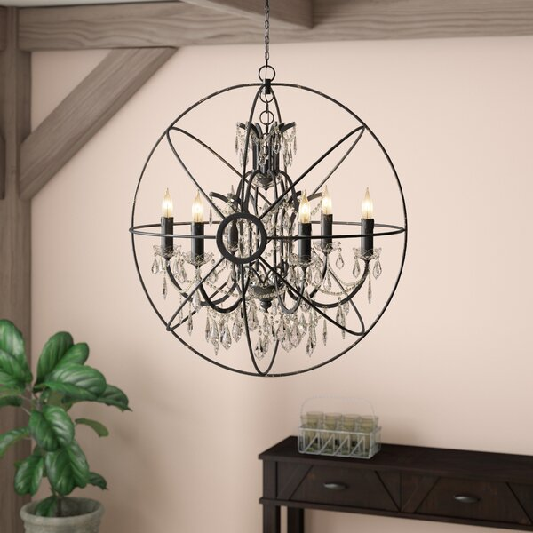 Cearbhall 6-Light Candle Style Globe Chandelier by Gracie Oaks Gracie Oaks