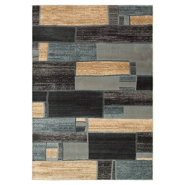 Aimee Oblong Blocks Blue & Ivory Area Rug by Trent Austin Design