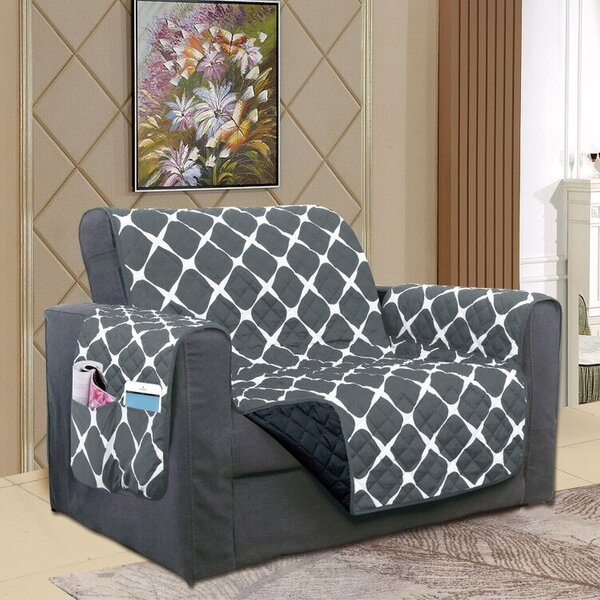 Reversible Furniture Protector Box Cushion Loveseat Slipcover by Winston Porter