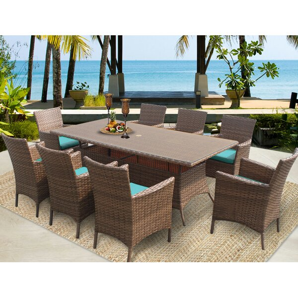Laguna Patio Dining Chair with Cushion (Set of 8) by TK Classics